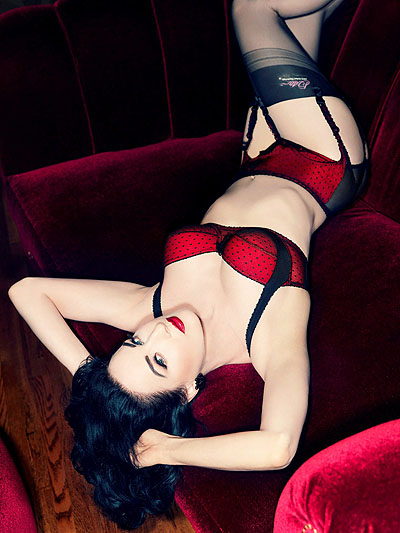Dita Von Teese looks stunning in new shoot for her lingerie range